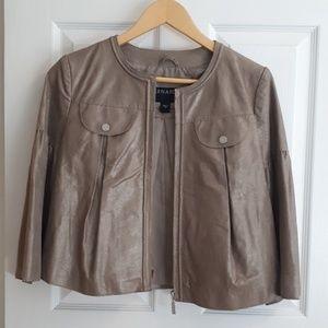 NWOT Bernardo Cropped Leather Trapeze Jacket